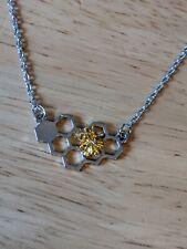 Pretty De Plata Tibetana Bumble Bee Bolsa charm//key Cadena