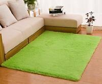 Fluffy Rugs Anti-Skid thick Shaggy Area  Dining Room Home Bedroom Carpet