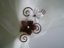 Attache Etole Mariée/Mariage/Robe Marron/Chocolat/Ivoire/Crème/Blanc fleur