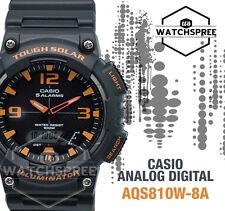 Casio Aqs810w-8a Tough Solar Analog Digital Sports Watch 5 Alarms Black 100m