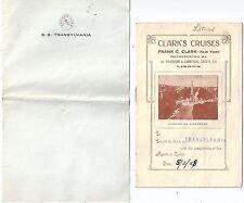 Letterhead & Lisbon Tour Booklet Anchor Line SS Transylvania 1928