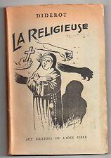 ANTICLERICALISME DIDEROT LA RELIGIEUSE ILLUSTRE PAR ARMANGEOL IDEE LIBRE COUVENT