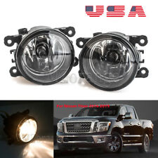 Fog Lights For Nissan Titan 2016-2019 Clear Lens Pair Bumper Lamp Replacement US