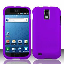 Purple Rubberized HARD Case Phone Cover T-Mobile Samsung Galaxy S II 2 S2 T989