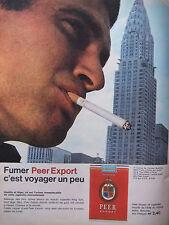 PUBLICITÉ DE PRESSE 1962 CIGARETTES PEER EXPORT - CHRYSLER BUILDING -ADVERTISING