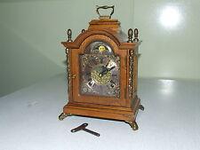 Dutch 8 days Warmink/Wuba Bracket Mantel Shelf Oak Clock Moonphase, 2 bells