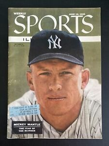 Mickey Mantle Sports Illustrated 1956 June Magazine Original + 2 1954 SI Mags