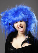 Womens Halloween Blue Backcombed Zombie Wig