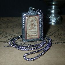 Buddha Somdej Toh Wat Rakang Magic Lp Thuad Amulet Necklace Pendant Very Rare