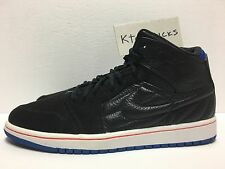 Nike Air Jordan 1 Retro '99 Black Sport Blue 654140 007 Men's Size 11.5 No Lid