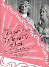 """Ethel Merman """"DU BARRY WAS A LADY"""" Bert Lahr / Cole Porter 1939 Souvenir Program"""