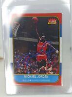 Michael Jordan 86-87 Fleer Rookie Card RC Reprint Facsimile Autograph MINT