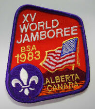 VINTAGE! 1983 Boy Scouts of America World Jamboree Patch-Alberta Canada-Small