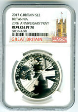 2017 GREAT BRITAIN 1OZ SILVER REVERSE PROOF NGC PF70 BRITANNIA RARE MINTAGE 500