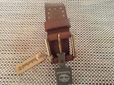 Timberland Men's Genuine Leather Belt Brass Buckle NWT