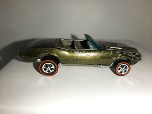 "Hot Wheels Redline "" Custom Firebird ""- metallic olive / brown interior - usa !!"