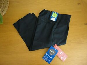 Boys Navy School Trousers by M&S Pull On Adjustable Waist Age 2 3 4 5 Years BNWT