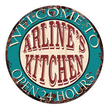 CPK-0892 ARLINE'S KITCHEN OPEN 24HRS Chic Sign Mother's day Birthday Gift