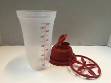 Tupperware Quick Shake, Gravy Shaker Mixer Blender 16oz with  Lid -- RED COLOR