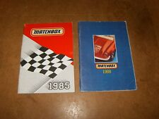 2 anciens catalogues vintage - miniatures MATCHBOX toy vehicles - 1985 & 1988