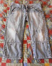 Pantaloni Jeans Donna 3/4 Tre Quarti, taglia M