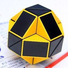 US Stock- ShengShou Ruler Snake Magic  Cube Yellow and Black Twisty Shape Puzzle