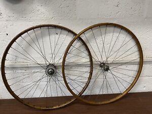 Vintage rare Wheels 30s Ambra Superga 'London' made Italy, 26 inch wood rims