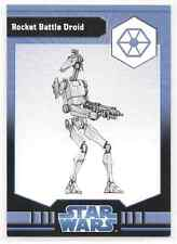 2009 Star Wars Miniatures Rocket Battle Droid Stat Card Only Swm Mini