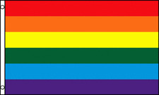 Rainbow Flag Gay Pride Banner Striped Pennant LGBT Large Event Sign New 4x6