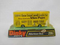 Dinky Toys 295 Atlantean Bus Die-Cast Model 'Yellow Pages' White Engine Cover