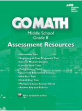 Grade 8 Go Math Assessment Resources with Answers Middle School 8th 2014