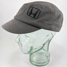 Honda Motors Motcycles Cadet Military Style Biker Cap Hat Strap Back Gray