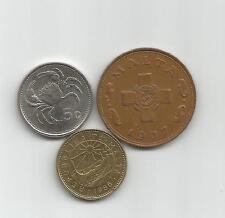 Lote de 3 monedas de Malta
