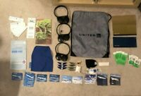 United Airlines Bundle/ Wings/ Pins/ Headphones/ Safety Card/ Amenity Kit/ Tags