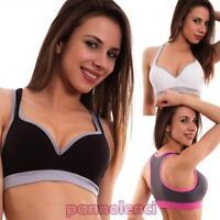Top mujer sujetador fitness gimnasio deporte push up tazas lencería sexy 3012