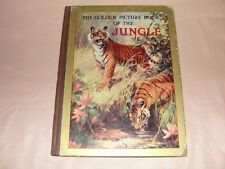 VINTAGE BOOK - THE GOLDEN PICTURE BOOK OF THE JUNGLE