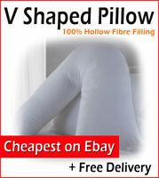 Orthopedic Polycotton V-Shaped Neck,Back & Shoulder Support Pillow In Pregnancy