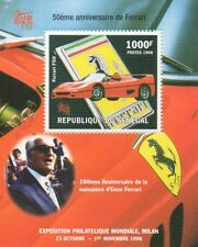 100th ANNIVERSARY OF THE FERRARI CAR SENEGAL 1998 MINIATURE MNH STAMP SHEETLET