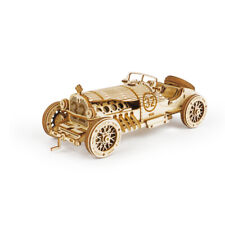 New Classic DIY Movable 3D Grand Prix Car Wooden Puzzle Game Assembly Toy Gift