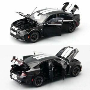 JACKIEKIM 1:32 Diecast Metal Toy Car Dodge Charger SRT Sound & Light Gift Kid