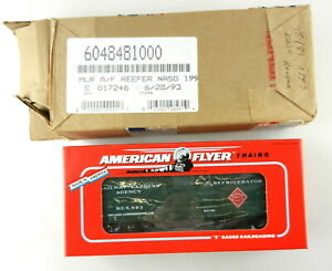 AMERICAN FLYER/Lionel S Scale #6-48481 1993 NASG Railway Express Reefer~MIB~ T94