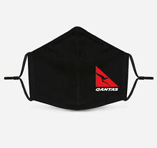 Qantas Airlines - Face Mask Fashion 2 Layers + Pocket Custom Made in US