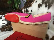 Christian Louboutin GALIA Flat Olona/Toile Rayee Shoes, Size 36, UK 3. Brand New