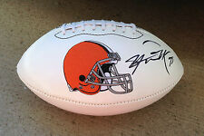 Cleveland Browns #99 PAUL KRUGER Signed Autographed Logo Football COA!