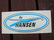 vintage rare Large Hansen surfboard decal surfing 1960s sticker longboard surf
