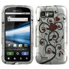 For AT&T Motorola Atrix 2 Rubberized HARD Case Snap Phone Cover 2D Heart Tree