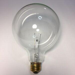 Satco S3013 100w 100G40 120V Med base Clear Incandescent Bulb 6 Bulbs