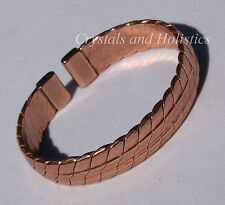 Non Magnetic HEAVY COPPER Solid Copper Bracelet Bangle Pain Relief Arthritis B70