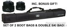 NEW HIGH SIERRA 4115/4050 DOUBLE SKI & BOOT BAGS COMBO W/LIFE WARRANTY+BONUSES