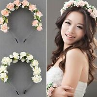 Rose Festival Crown Headwear Flower Headband Hairband Floral Hair Wreath